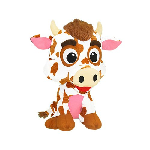 ToySource Mabelle The Cow Collectible Plush, Brown Spotted, Size 7.5 from ToySource