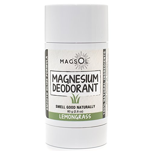 Lemongrass Magnesium Deodorant - Aluminum Free, Baking Soda Free, Alcohol Free, Cruelty Free, Sensitive Skin, All Natural, For Women Men Boys Girls Kids, Magnesium Deodorant 2.8oz: Lasts over 4 (Lemongrass Deodorant)