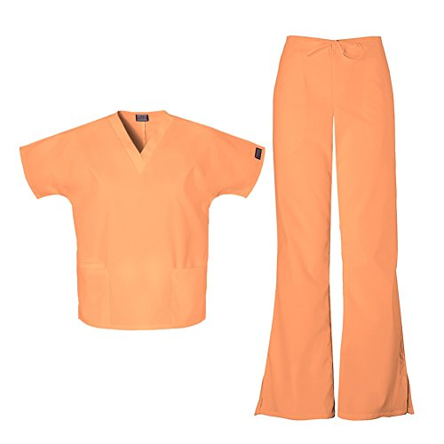 cherokee scrubs orange sorbet - 7