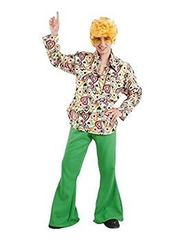 DISBACANAL Disfraz de Hippie Hombre - Único, XXXL: Amazon.es ...