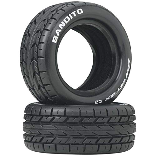 Duratrax Bandito 1:10 Scale RC 4WD Buggy Front Tires with Foam Inserts, C2 Soft Compound, Unmounted (Set of 2)