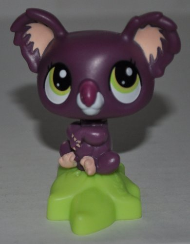 Koala Bear (Purple) (2010 McDonalds) - Littlest Pet Shop (Retired) Collector Toy - LPS Collectible Replacement Single Figure - Loose (OOP Out of Package & Print)