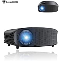 BeamerKing Full HD Video Projector, 3500 Lumens Projector 1280x800 Native Resolution Support 1080P LED Home Theater Projector to Laptop iPhone Andriod Smartphone PS4 Xbox TV Box and Fire TV