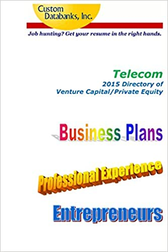 Amazon.com: Telecom 2015 Directory of Venture Capital and Private ...