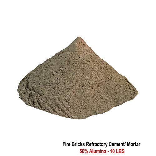 Fire Bricks Refractory Cement/Mortar, 50% Alumina, Accoset 50, 10 LBS