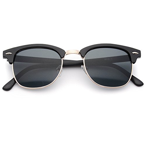 Clubmaster Light Weight Half Frame Dark Green Lens Sophisticated Celebrity High Fashion - Clubmaster Celebrities