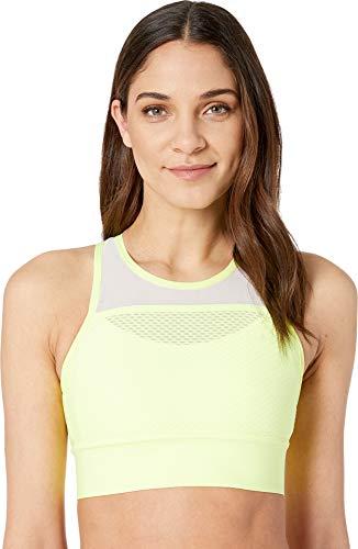 - New Balance Women's Determination Bra Top, Solar Yellow, Medium