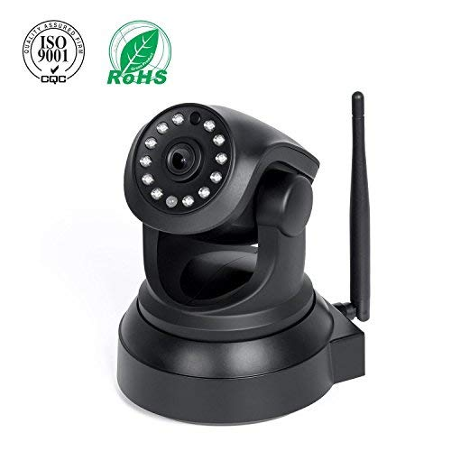 IP Camera, Elebor 720P Full HD Home Security WiFi Cameras, Baby Video Monitor With Remote Motion Detect Alert, Two-Way Audio Black ¡
