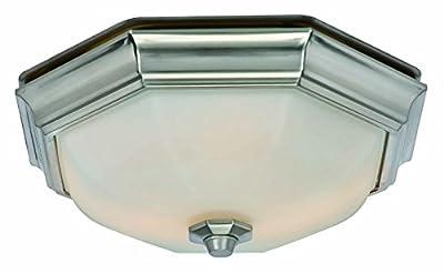 Hunter Home Comfort 80213 Huntley Bathroom Ventilation Fan with Light (LED Bulbs Included), Brushed Nickel