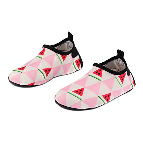 Big Kids Watermelon Apparel - Yidomto Kids Water Shoes, Quick Dry Barefoot Socks for Toddler Boys & Girls on Beach Swim Pool(Pink/watermelon-34/35)