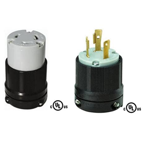 nema l6 30 plug and connector set rated for 30a, 250v, 3 30 amp 250 volt plug wiring diagram industrial locking wiring device