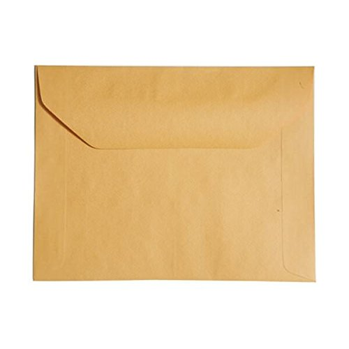 JAM PAPER 10 x 13 Booklet Recycled Envelopes - Brown Kraft Manila - 100/Pack ()