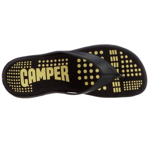 Camper - Sandalias de cuero para hombre Negro