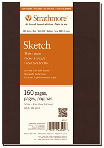 Strathmore 480-7 400 Series Softcover Art Sketch Journal, 7.75''x9.75'' 80 Sheets by Strathmore