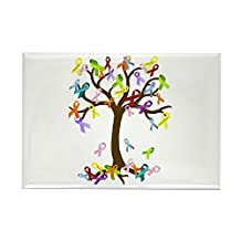 "CafePress - Ribbon Tree - Rectangle Magnet, 2""x3"" Refrigerator Magnet"
