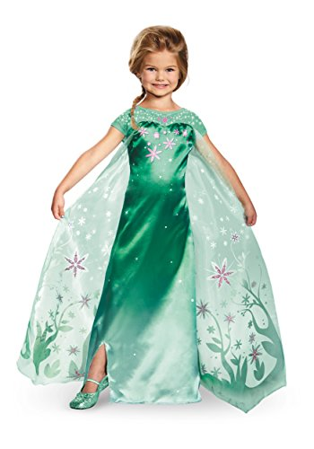 Elsa Frozen Fever Deluxe Costume, One Color, Small