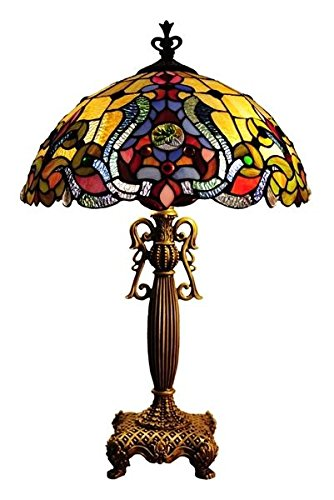 (Victorian Tiffany Style Stained Glass Table Lamp)
