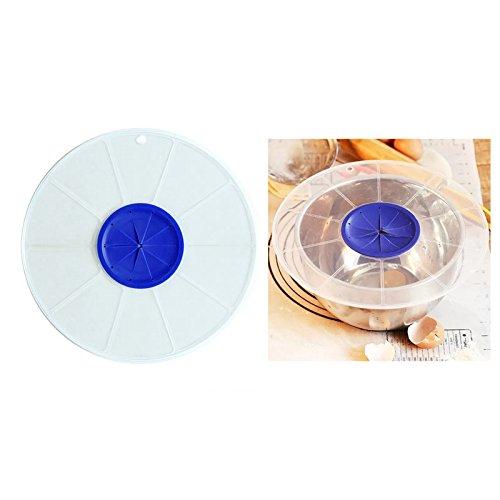 SODIAL Egg Bowl Whisks Screen Cover Beat Egg Cylinder Baking Splash Guard Bowl lids Kitchen Waterproof Bowl lids