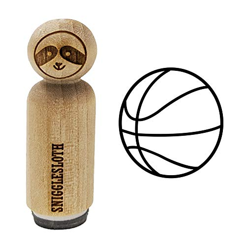 Basketball Sport Rubber Stamp for Stamping Crafting Planners - 1/2 Inch Mini
