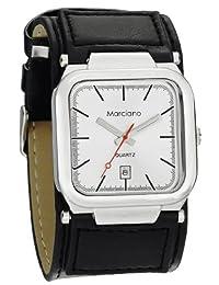 Marciano Men's Watch | Black Cuff Watch with Square Case & Silver Sunburst Dial | HA0239