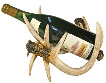 Antler Wine Bottle Holder, 9.5-inch