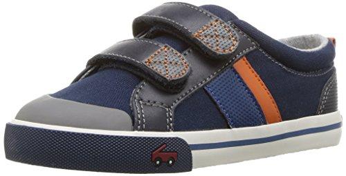 See Kai Run Boys' Russell Sneaker, Navy, 7 M Toddler