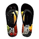 Couple Slipper Ice Fruit Juice Print Flip Flops Unisex Chic Sandals Rubber Non-Slip Beach Thong Slippers