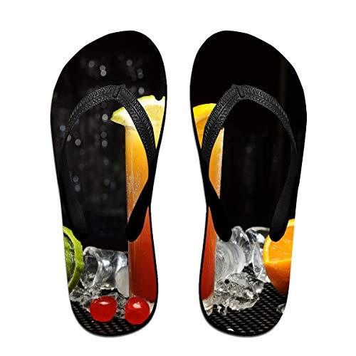 Couple Slipper Ice Fruit Juice Print Flip Flops Unisex Chic Sandals Rubber Non-Slip Beach Thong Slippers by Lojaon