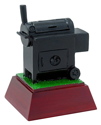 Decade Awards BBQ Smoker Resin Trophy - BBQ Grill Award - 4 Inch Tall - Customize Now