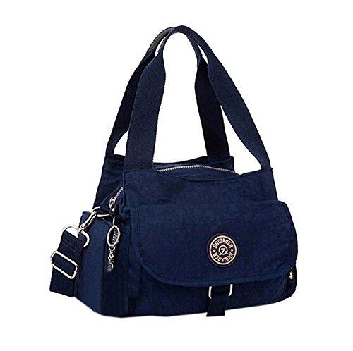 Handbag Fansela TM Black Nylon Water Shoulder Casual Blue Dark Repellent nSn7y6v