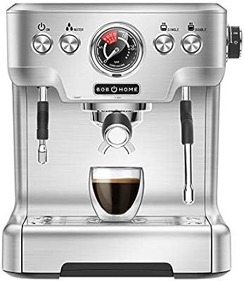 BOB HOME ESPRESSO CLUB - Máquina de café espresso (20 bares ...