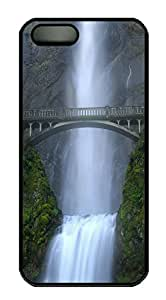 iPhone 5 5S Case Waterfall PC Custom iPhone 5 5S Case Cover Black
