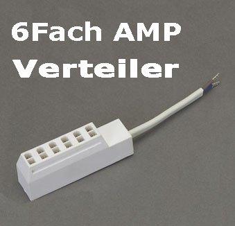 6Fach AMP Verteiler Steckerleiste Adapter 300261