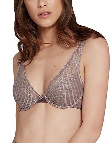 Plunge Taupe Lou Solid Moon Graphic 27268 Colour Bra Women's R8qYaWR