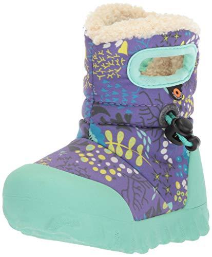 Bogs Kids' B-Moc Waterproof Insulated Toddler Winter Boot Reef Print/Purple/Multi