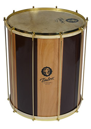 TIMBRA 8508 Wood Custom Samba Surdo with Natural Injected Head and Golden Hardware