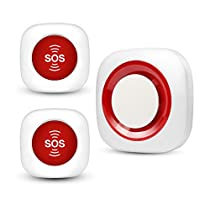 Koochuwah Wireless Caregiver Paging Waterproof SOS Call Button for Elderly Patient Help System for Home/Personal Attendant Pager
