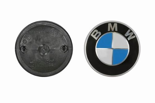 BMW Genuine Hood Roundel Emblem with 2 Grommets for All Model and for Trunk of E32/e38 7-series From 86 - 01, E34 5-series From 88 - 95, E36 3-series From 90 - 99, Model: , Outdoor&Repair Store