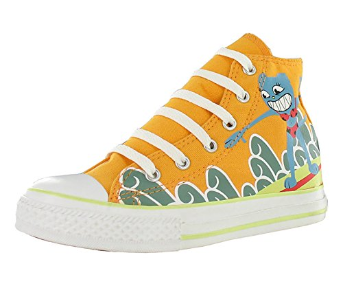 Converse All Star Chuck Taylor Space Hi Boys Canvas Shoes Size US 1, Regular Width, Color Blue/Orange/Yellow by Converse (Image #8)