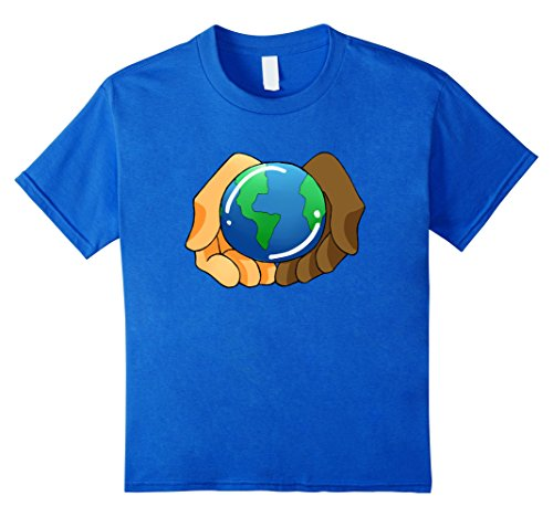 Kids United Nations Day Earth Illustration Graphic Tshirt Tee 6 Royal Blue