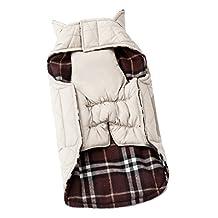 Elisona-Pet Dog Autumn Winter Waterproof Reversible Plaid Clothes Jacket Coat Cloth XXL