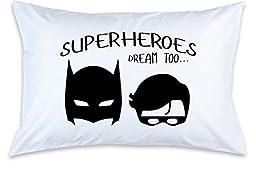 Children\'s Pillow Case, Superheroes Dream Too, Custom Printed, Little Boy Pillowcase, Birthday Boy, Kid\'s Bedroom, Toddler Room, Baby Room