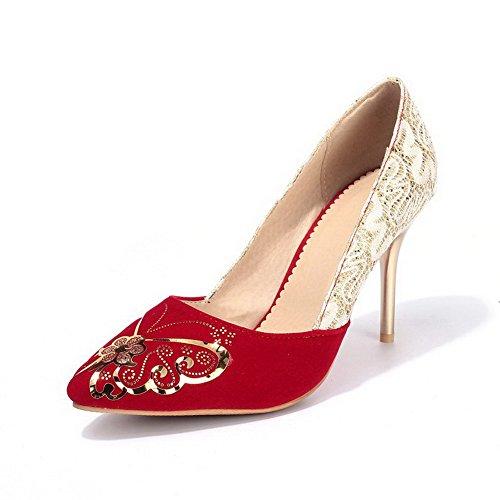Suljetun Weipoot on Pumput Himmeä Valikoituja Todennut Punainen Korkokenkiä Naisten Toe Pull Väri kengät 8w8CnqaHr