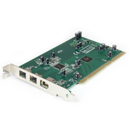 StarTech.com 3-Port 2b 1a PCI 1394b FireWire Adapter Card with DV Editing Kit (PCI1394B_3), Model: PCI1394B_3, Electronics & Accessories Store by Gadgets World