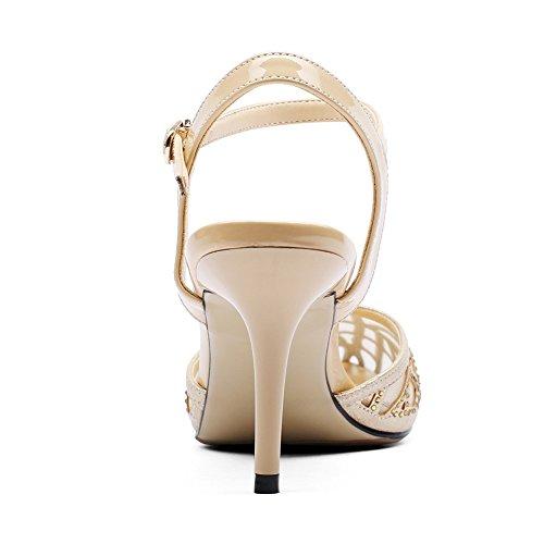 Plata Fiesta De Tacones Mujer Trabajo Negro Bombas Tacón Diamante Oro Altos Boda Vestido Nvxie Zapatos xRqnUAT0ww