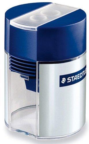 Staedtler Tub Pencil Sharpeners double-hole sharpener 2 Pack (Staedtler Crayons)