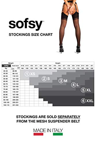 Sofsy Sheer Thigh High Stockings For Garter Belt