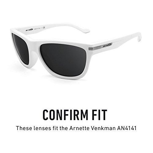 Revant Venkman Lentes múltiples Negro — AN4141 de repuesto Chrome Polarizados Mirrorshield para Arnette Opciones rfrdq4Xwx
