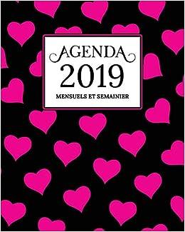 Amazon.com: Agenda 2019 Mensuel Et Semainier: Calendrier ...