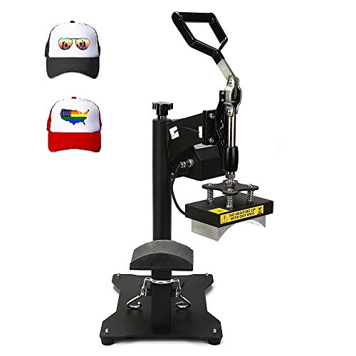 Superland 7x3.75 Inch Hat Press Heat Press Machine with Digital LCD Timer Hat Cap Sublimation Digital Clamshell Cap Press Machine (CP815B Hat Press) by Superland